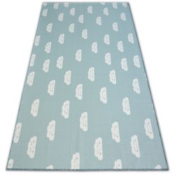 Anti-slip Carpet wall-to-wall for kids CLOUDS green