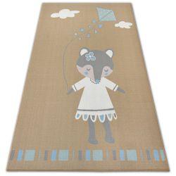 Teppich für Kinder LOKO Maus beige Antirutsch