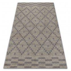 Teppich SOFT 8047 KARO PATTERN sahne / hellbraun