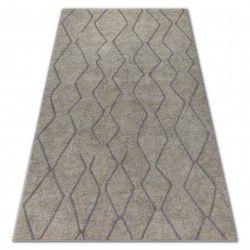 Teppich SOFT 8050 ZICKZACK BOHO Sahne / Hellbraun