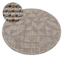 Teppich NATURE Kreis SL160 beige SIZAL BOHO