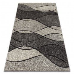 Carpet FEEL 5675/16811 WAVES grey / anthracite / cream