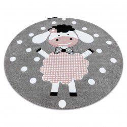 Carpet PETIT DOLLY circle grey