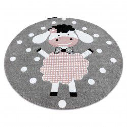 Kinderteppich PETIT DOLLY Kreis grau