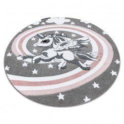 Kinderteppich PETIT PONY Kreis grau