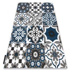 Teppich ALTER Porto Blumen blau