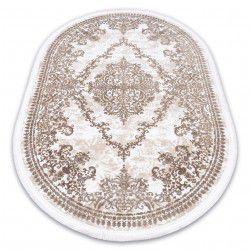 Carpet ACRYLIC DIZAYN oval 143 ivory / dark beige