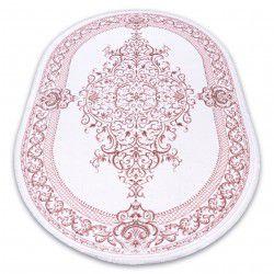 Teppich ACRYL DIZAYN Oval 142 Elfenbein / Rosa