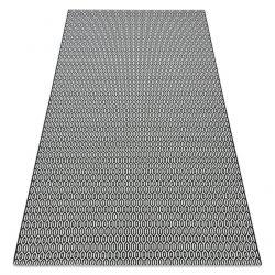 Teppich FLAT SISAL 48603690 Bienenwabe weiß schwarz