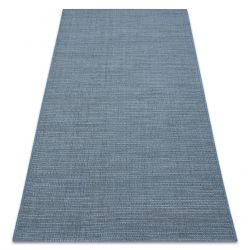 Carpet SISAL FORT 36201035 blue uniform one-color smooth plain