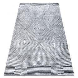 Teppich Structural SIERRA G5012 flach gewebt grau - geometrisch, Diamanten