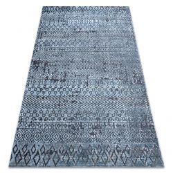 Carpet Structural SIERRA G6042 Flat woven blue - geometric, ethnic