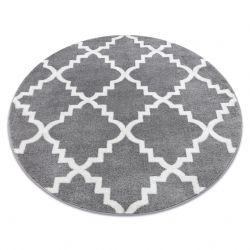 Teppich SKETCH ring - F343 grau /weiß trellis