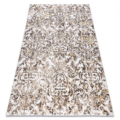 Teppich ACRYL VALS 0A027A H02 65 Ornament Blumen dunkelbeige / beige
