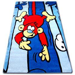 Carpet children HAPPY C176 blue Monkey