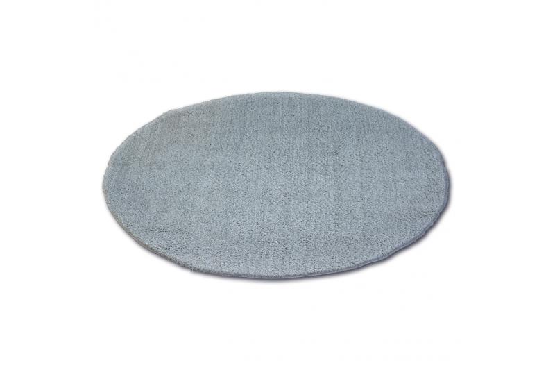 Alfombra círculo SHAGGY MICRO plateado - Alfombras Shaggy
