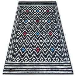 Teppich COLOR 19315/239 SISAL Diamanten Schwarz