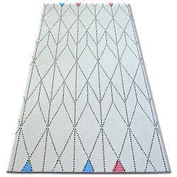Alfombra de cuerda sisal COLOR 19312/236 Rombos Triángulos blanco