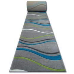 Килим Лущув HEAT-SET FRYZ FOCUS - 8732 бірюзовий хвилі лінії море