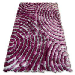Carpet SHAGGY 3D - 203 silver and purple