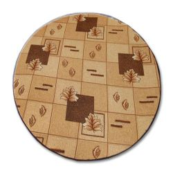 Carpet circle POLKA brown
