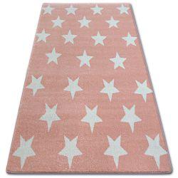 Ковер SKETCH - FA68 розовый/кремовый - звезды