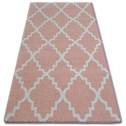 Ковер SKETCH - F343 розовый/кремовый Марокканский узор