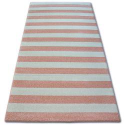 Килим SKETCH - F758 рожевий/кремовий - ремені