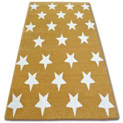 Килим SKETCH - FA68 золотий/кремовий - зірки