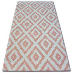 Teppich SKETCH - F998 Rosa/Sahne - Quadrate