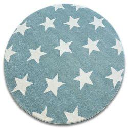 Sketch szőnyeg kör - FA68 türkiz/krém - Csillagok