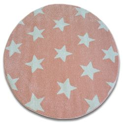 Carpet SKETCH circle - FA68 pink/cream - Stars
