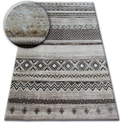 Tapete SHADOW 1835 crema / castanho - Losangos
