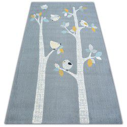 Килим PASTEL 18405/072 - птахи сірий