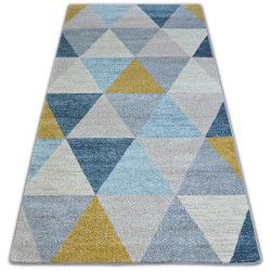 Килим NORDIC триъгълници сиво/екрюG4580