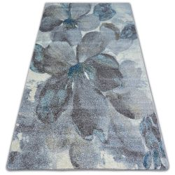 Teppich NORDIC BLUMEN grau/braun FD291