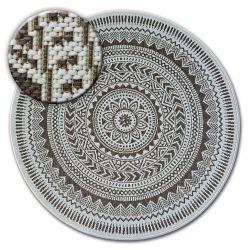 Tappeto cerchio DI SPAGO SIZAL FLAT 48695/768 VETRATA