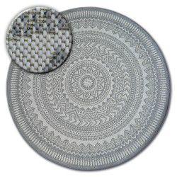 Koberec kruh FLAT 48695/637 SISAL - vitráže