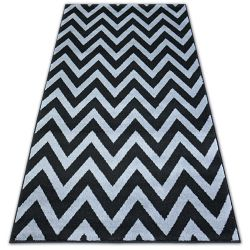 Tapis BCF BASE CLINED 3898 ZIGZAG noir/gris