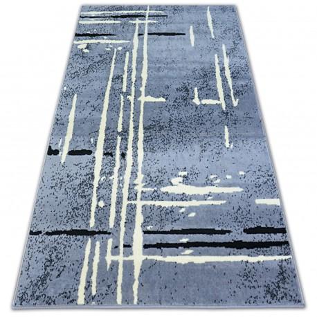 Килим BCF BASE FUZZY 3909 лінії сірий/чорний