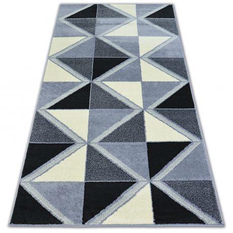 Килим BCF BASE TRIGONAL 3974 трикутники чорний/сірий