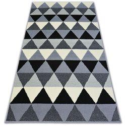 Alfombra BCF BASE TRIANGLES 3813 Triángulos negro/gris