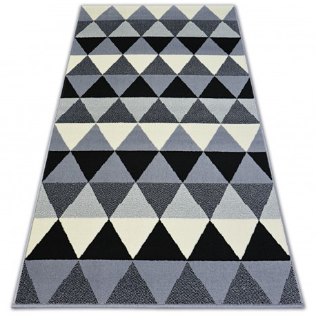 Carpet BCF BASE TRIANGLES 3813 black/grey