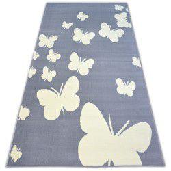 Ковер BCF FLASH BUTTERFLY 3976 бабочки серый