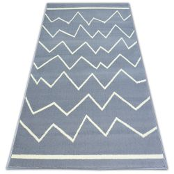 Carpet BCF BASE CROOKED 3962 ZIGZAG grey