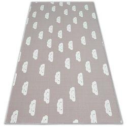 Antirutsch Teppich Teppichboden für Kinder CLOUDS rosa