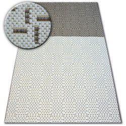 Fonott sizal flat szőnyeg 48722/608 Kétszínű krém barna