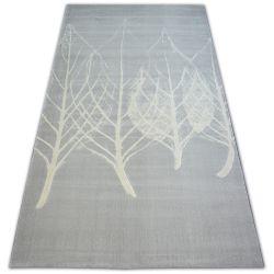 Carpet SCANDI 18281/652 LEAVES grey cream