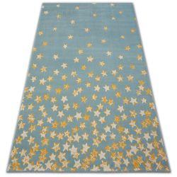 Килим PASTEL 18408/032 - зірки бірюзовий золотий кремовий