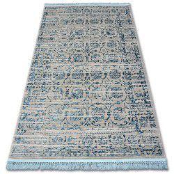 Koberec ACRYLOVY MANYAS 193AA šedá/modrý fringe